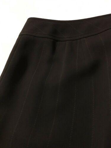 Ann Taylor Women's Pants Black Pinstripe Fully Lined Dress Pants Size 10 X 30 image 8