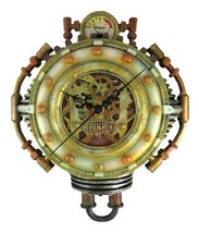 Cool 3-D Steampunk Wall Clock Steam Punk Sci-Fi - $69.29