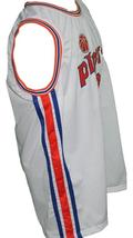 Connie Hawkins #42 Pittsburgh Pipers Retro Aba Basketball Jersey White Any Size image 3