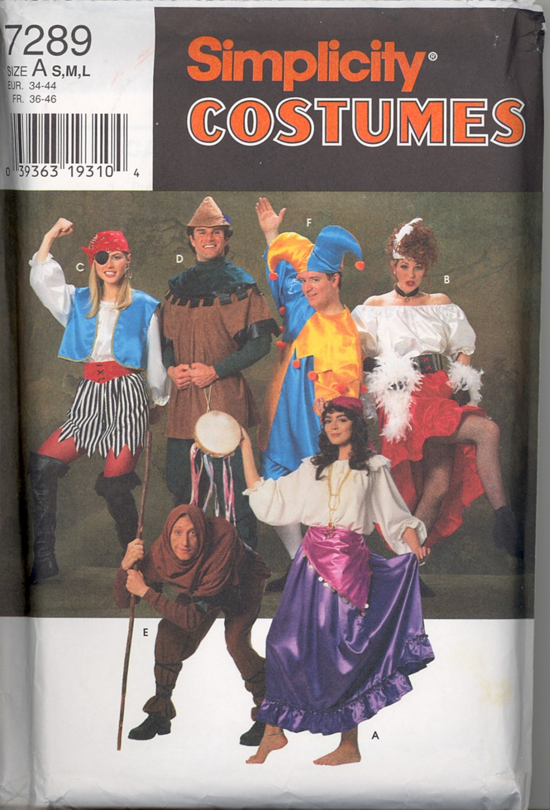 OOP Butterick Star Wars Costume Sewing Pattern Halloween Patterns You Pick
