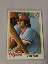 PETE ROSE 1978 TOPPS CARD #20 ORIGINAL CINCINNATI REDS BASEBALL GC - $22.63