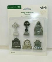 Dept 56 Halloween Village Tombstone Accessories Set of 6 #56.53065 - $19.79