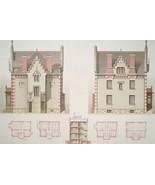 ARCHITECTURE Color Print - VICTORIAN Brick Villa on Avenue d'Aligre at C... - $25.20