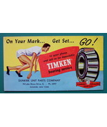1940s INK BLOTTER AD - Timken  Roller Bearings Dunkirk New York Sprint R... - $4.49