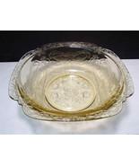 """Vintage Federal Glass Madrid Amber Depression Glass 9 3/8""""  Salad Bowl - $19.99"""
