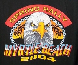Spring Rally Myrtle Beach Flaming Pistons  Motorcycles 2004  T Shirt XL - $14.84
