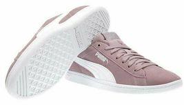 NEW PUMA Ladies Womens Suede Vikky Purple Elderberry Tennis Gym Shoes Sneakers image 4