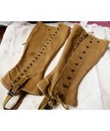 Vintage 1940's Canvas Boot Leg Spats Gaiters Chaps - $37.87