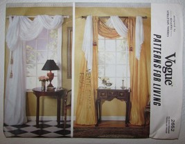 VOGUE 2652 Designer Susanna Stratton-Norris Drapes Sewing Pattern Guides - $5.93