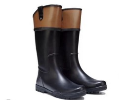 Sperry Top Sider Nellie Kate Women's Tall Rain Boots Black STS97701 SIZE 11 - $56.50