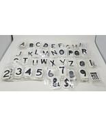 """900 Lot Brady 2"""" Vinyl Die Cut Adhesive Letters Numbers More Outdoor Indoor - $25.73"""