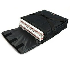 Black Polyester Insulated Pizza / Food Delivery Bag 16″ – 18″ Profession... - $26.38