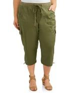 Terra & Sky Cargo Capri's ~ Women's Plus Size 4X (28W-30W) ~ Bay Leaf ~ NWT - $18.75