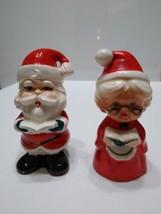 Vintage Lefton Santa and Mrs Claus Christmas Song Books Salt & Pepper Sh... - $29.47