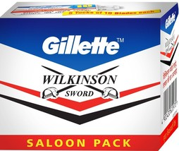 10 pack of Gillette Wilkinson Sword Classic Double Edge Safety Razor Blades - $102.96