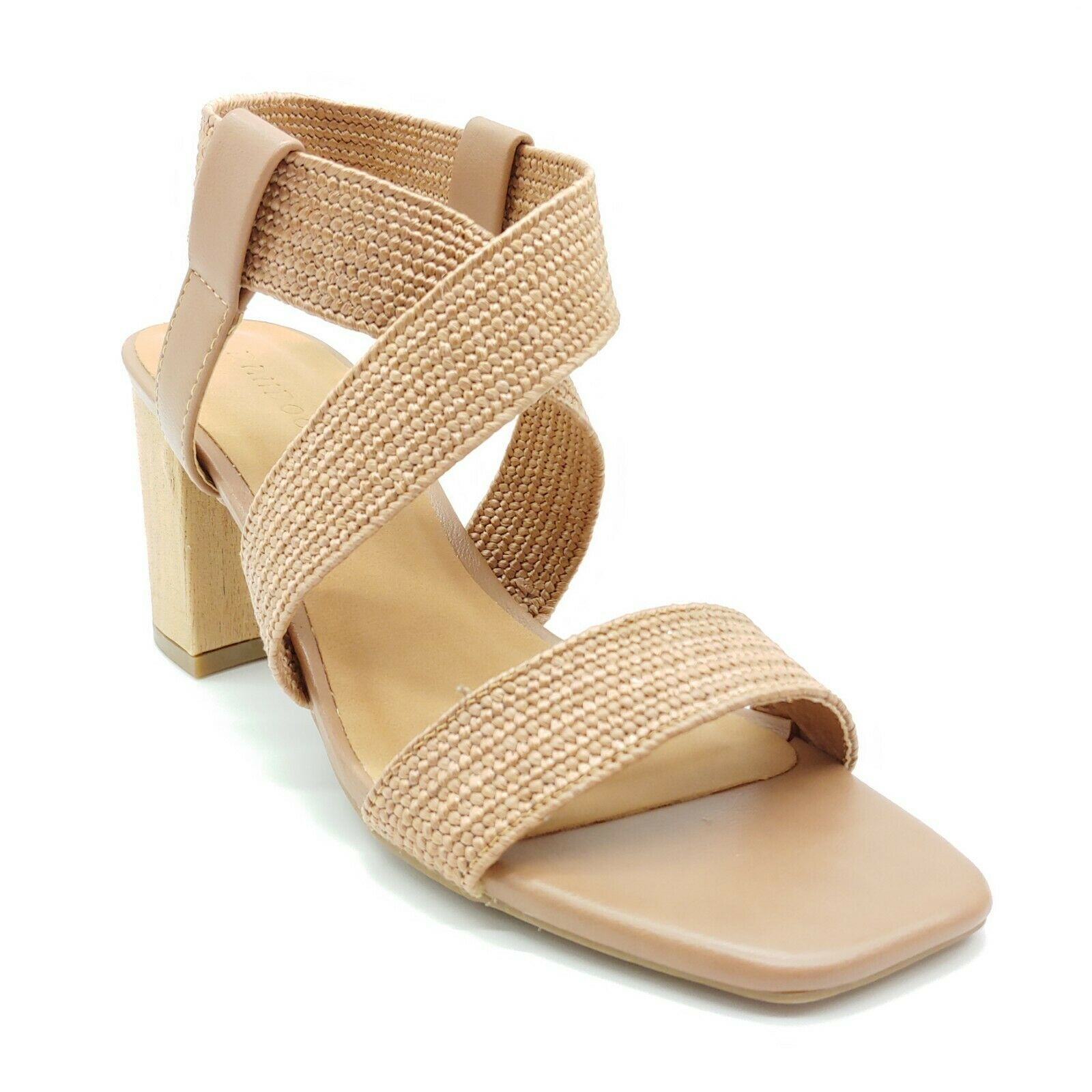 Bamboo Womens Forever 13 Braided Sandal Tan Cushioned Insole Sz 7.5 M NEW - $24.64
