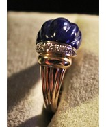 Incredible - Lapis Lazuli and 14K Yellow Gold Ring w/Diamond Accents - $158.00
