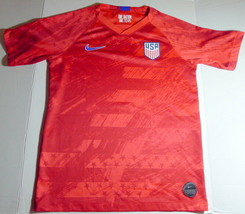 Nike USA Soccer Jersey Red Dri-Fit One Nation One Team Polyester Youth X... - $32.62