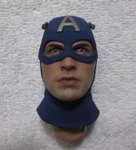 Captain America Head Sculpt 1/6th Scale Star Spangled Man MMS 205 - Hot ... - $43.54