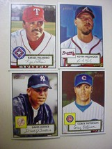 Lot of (4) 2001 Topps Heritage Baseball Cards-Black/Red backs-ex/mt - $4.00