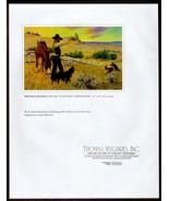 A Wyoming Sheepherder Artist William Gollings 1995 Gallery Art Print Wes... - $14.99
