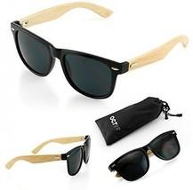 Oct17 Wood Bamboo Wooden Vintage Sunglasses Eyewear For Mens Womens - Black - $22.88