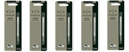 5 x Parker Quink Flow BallPoint Ball point Pen Refills BallPen Black Fin... - $8.49