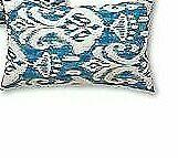 Greendale Home Fashions AZ5811S2-SEASIDE Aqua Outdoor Rectangle Throw Pillow