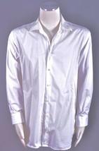 Canaletto White Textured Cotton Button Down Dress Men's Shirt Size 34/35... - $18.99