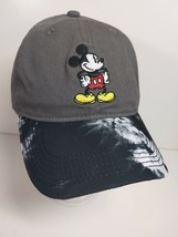 Disney Mickey Mouse Baseball Cap Black Gray & Black Tie Dye Bill 90 years - €10,98 EUR