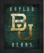 "Baylor University Bears ""Retro College Logo Map"" 13 x 16 Framed Print  - $39.95"