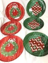 "Christmas Set of 6 -8"" Melamine Salad/ Dessert Plates Citrus Grove BPA Free - $10.40"
