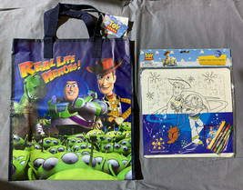 Toy Story Buzz and Woody Tote Bag and Color your own Puzzle- Clearance I... - $12.82