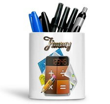 Personalised Any Text Name Ceramic generic Pencil Pot Gift Idea Kids Adu... - $12.89
