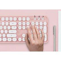 Actto KBD47 USB Wired Retro Korean English Keyboard (Pink) image 4
