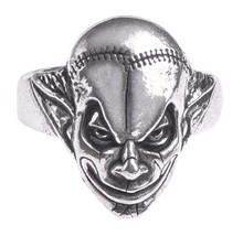 M'era Luna Scarred & Stitched Evil Clown Ring Alchemy Gothic R213 Halloween ICP - $20.95