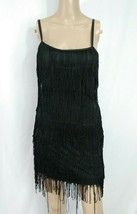 Forever 21 Black Fringe Applique Flapper 20s Style Gatsby Cocktail Party... - $0.99