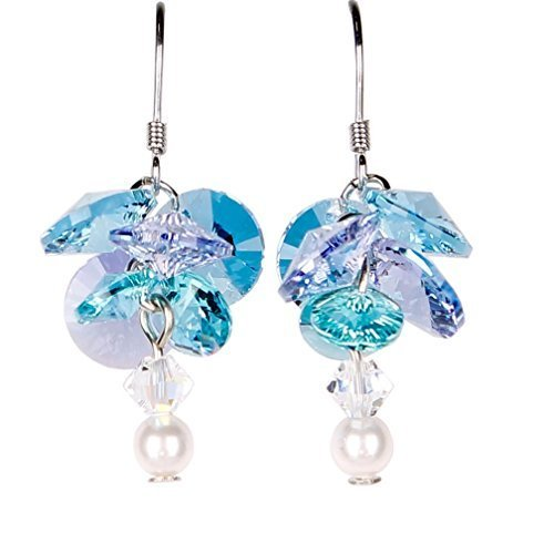Woodstock Jewels Garden Reflections Swarovski Elements Forget Me Not Earrings