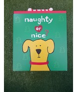 Up Country Naughty or Nice Puppy Treat Cookie Box Hand Painted Solid Woo... - $24.97