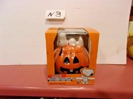 Peanuts Snoopy Halloween Pumpkin Ceramic Candy Dish  New Woodstock - $34.99