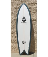 "Paragon Retro Fish 6'0"" Surfboard - White with Dark Blue Rails - $290.00"