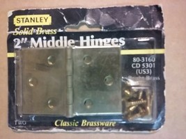 "2"" Solid Brass MIddle hinges - $5.59"