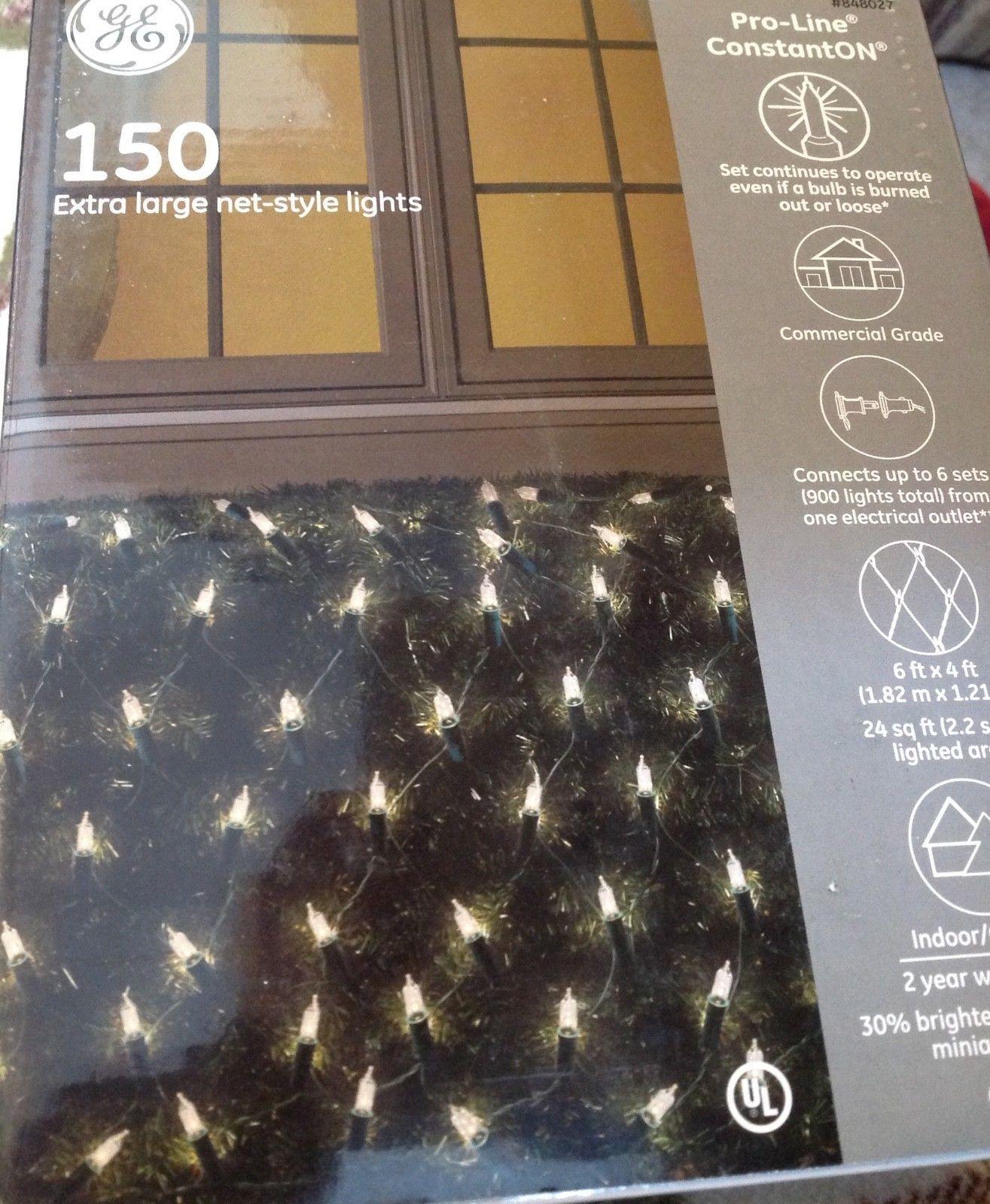 Christmas Lights 150 Extra Large Net Lights Indoor Outdoor Ge