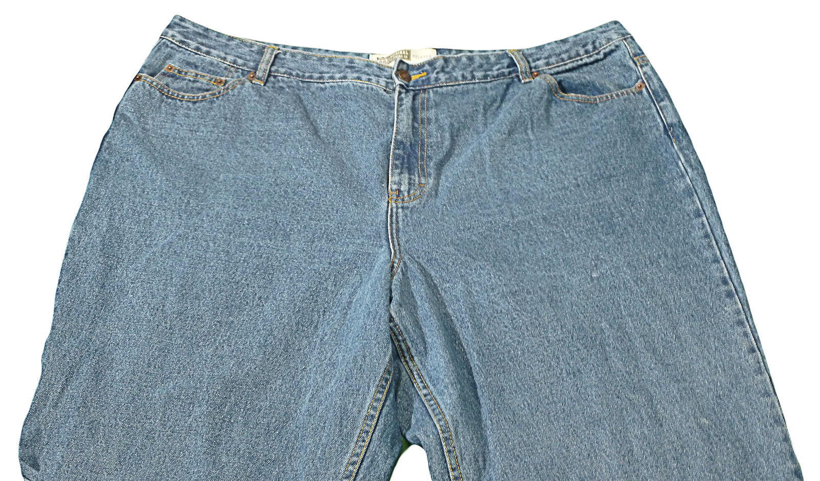 Womens Blue ROUTE 66 Relaxed Fit Denim Jeans 24S X 28 3/4 100% Cotton