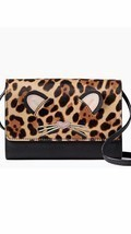 KATE SPADE NWT LEOPARD SUMMER RUN WILD CROSSBODY CLUTCH WALLET BAG LEATHER - $2.379,07 MXN