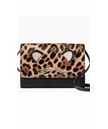 KATE SPADE NWT LEOPARD SUMMER RUN WILD CROSSBODY CLUTCH WALLET BAG LEATHER - £85.83 GBP