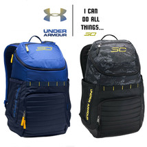 SC30 Undeniable Backpack Under Armour Black Stephen Curry UA Warriors Blue Navy - $74.97+