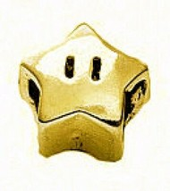 NICE Super Mario Star power 24kt gold plated real Sterling silver 925 jewelry be - $28.53