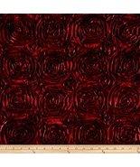 Wedding Rosette Satin Burgundy Fabric By The Yard - $7.43