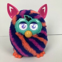 Hasbro Furby Boom Orange Pink Blue Striped Interactive Electronic Plush Toy - $16.83
